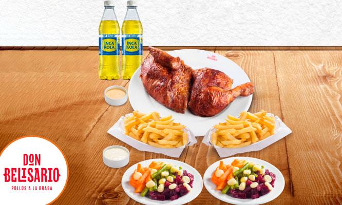 1/4 o 1/2 de pollo papas crocantes gaseosa ensalada¡VALIDO A NIVEL NACIONAL!