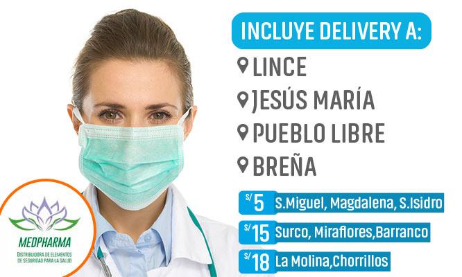 Caja de 50 unidades de mascarillas quirurgicas 3 capas y ajuste nasal¡Incluye delivery!