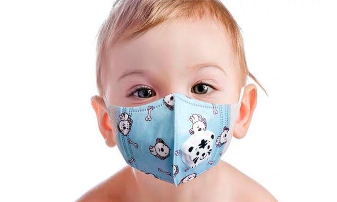 Pack de 05 o Caja de 10 mascarillas KN95 con filtro para niños Incluye delivery
