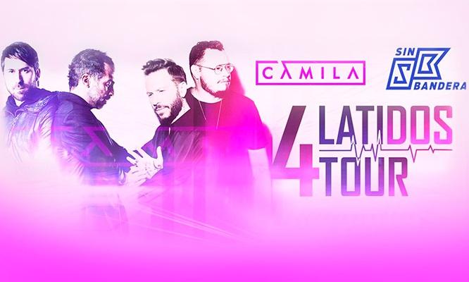 Entrada al Concierto 4 Latidos Tour - Sin Bandera y Camila