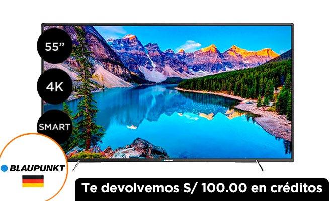 TV BLAUPUNKT 55 Ultra HD 4K Smart Blau55UHD ¡Incluye delivery!