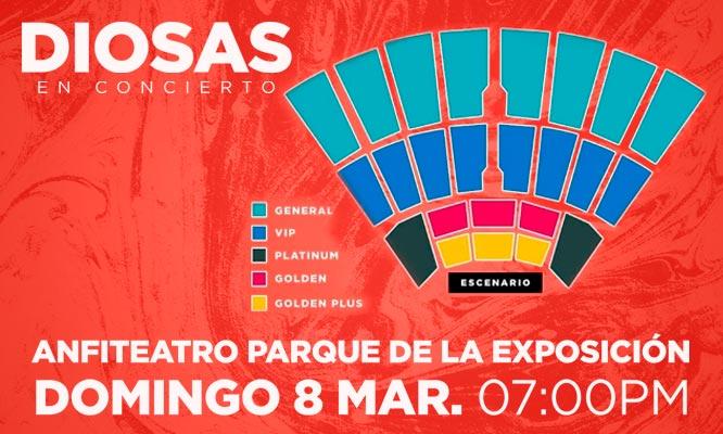 Entrada a Diosas en concierto este 8 de marzo en el Parque de la Exposicion