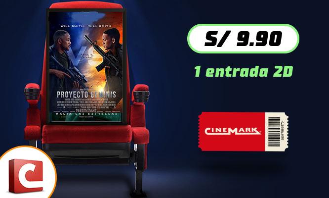 Cinemark - 1 entrada 2D - Cuponidadpe