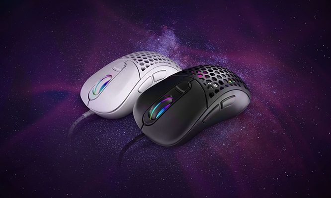 Mouse Gamer Aquila Air Mate blanco o negro delivery