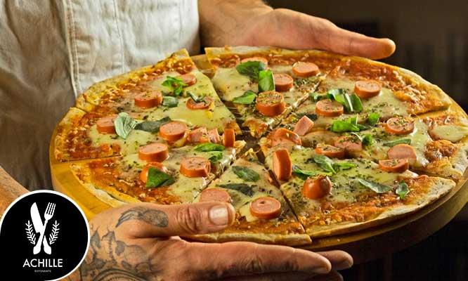Pan al ajo Pizza Familiar a eleccion 2 jugos a eleccion