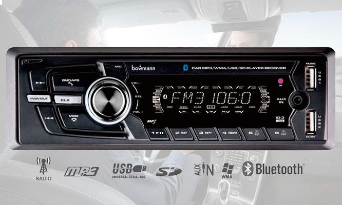 Radio Bowmann DX-2600BT Instalacion