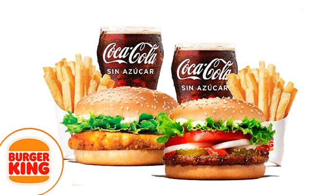 BURGER KING Combo para uno o dos con Sandwich papas gaseosa ¡Uso inmediato!