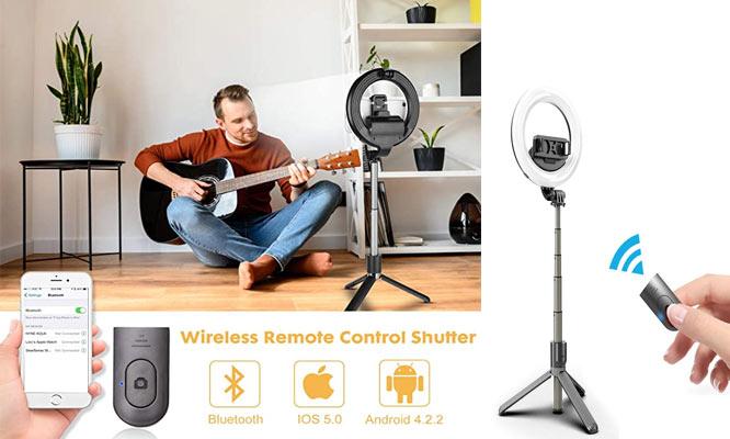 Aro de luz 5 selfiestick Bluetooth tripode y soporte movil ¡Incluye delivery!
