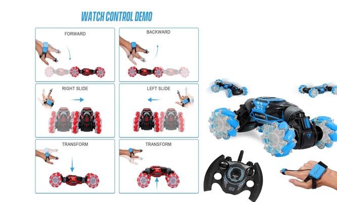 Stunt Car con luces y con movimientos gesticulares y mando ¡Incluye delivery!