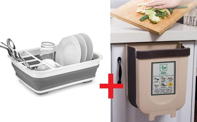 PACK cocina por Escurridor de vajilla tacho plegable ¡Incluye delivery!