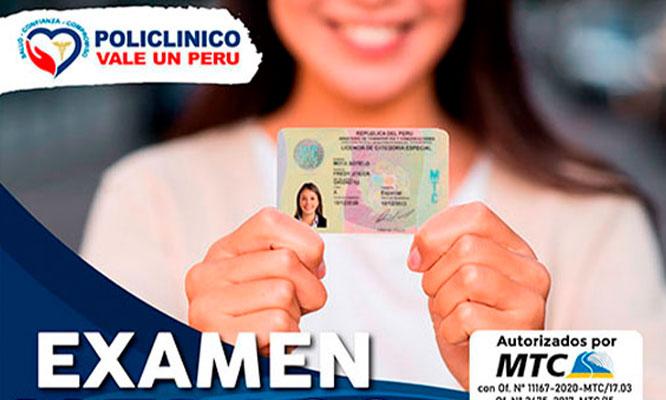 Examen Medico para Brevete SAN JUAN DE LURIGANCHO nuevo Revalidar Duplicar etc