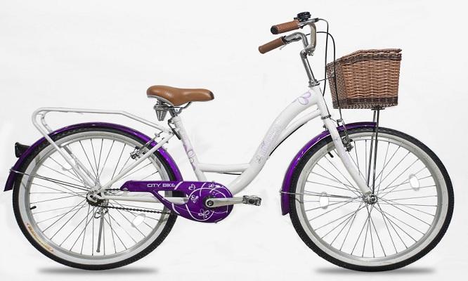 Bicicleta de aluminio Princess en rosa o lila elige accesorios