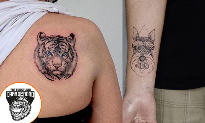 Tattoo en ilustraciones hasta 7x10cm a dos colores