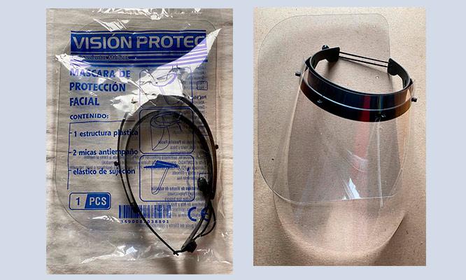 Protector facial con 2 micas de repuesto con Cuidado Total Peru ¡Incluye delivery!