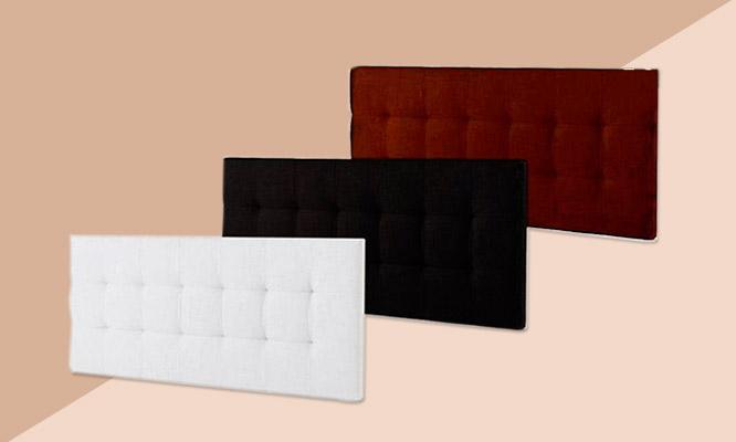 Cabecera de cama de microfibra en modelo y color a eleccion