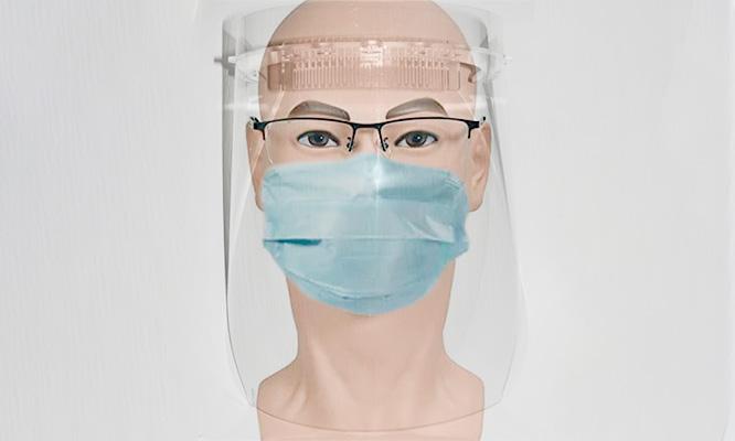 Protector facial antisalpicaduras conPantalla de mica PET cristal