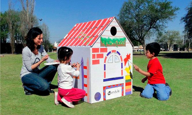 Casita De Carton Plegable Para Niños Para Pintar Y Colorear