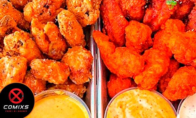 ALL YOU CAN EAT Alitas Piezas de Pollo Chicken Fingers Mini Burger y mas