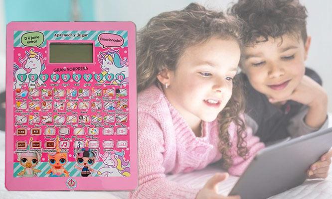Tablero electronico educativo bilingüe para niños delivery con Dulces Detalles