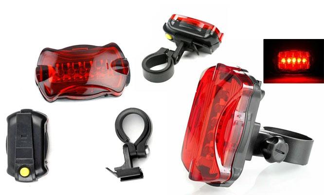 Pack Luz LED frontal y trasera para bicicleta WJ-101