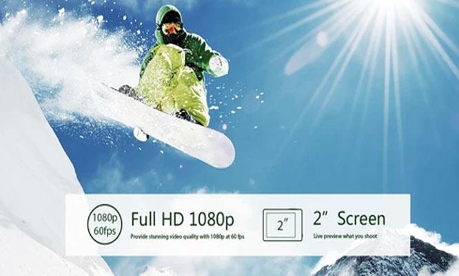 Camara de accion Eken H9R 4K lente 170° antena Wifi