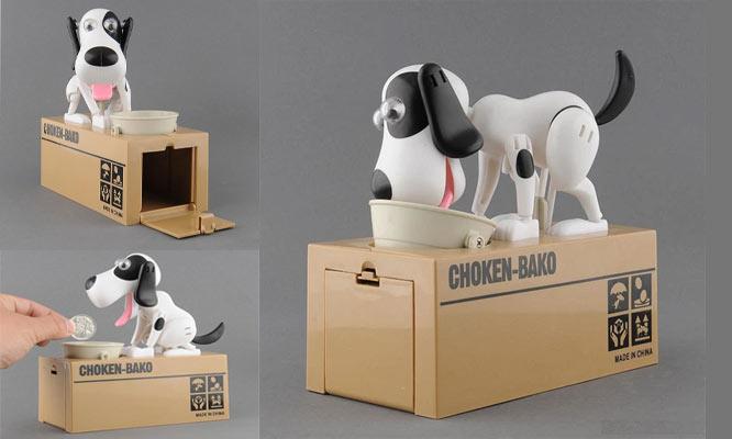Alcancia electronica perrito ahorrador Choken-Bako