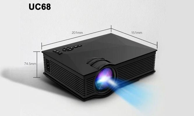 Proyector LED Unic UC68 De 1200 Lumenes Con WiFi ¡Incluye delivery