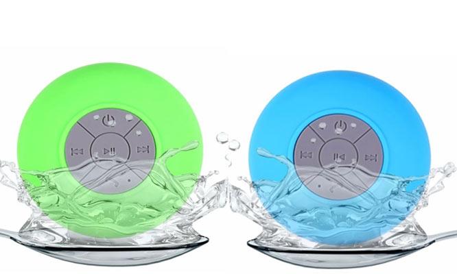 Parlante acuatico con bluetooth BTS-06 acuatico 3W con ventosa