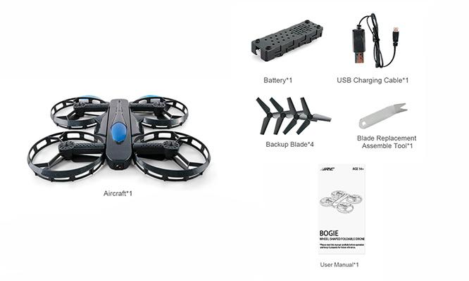 Drone plegable camara 720P HD JJR H45 WIFI - Negro