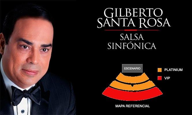 Concierto Gilberto Santa Rosa - Salsa Sinfonica - entrada VIP o Platinum