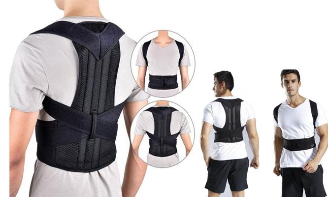 Faja correctora de postura con doble ajuste y soporte ¡Incluye delivery!
