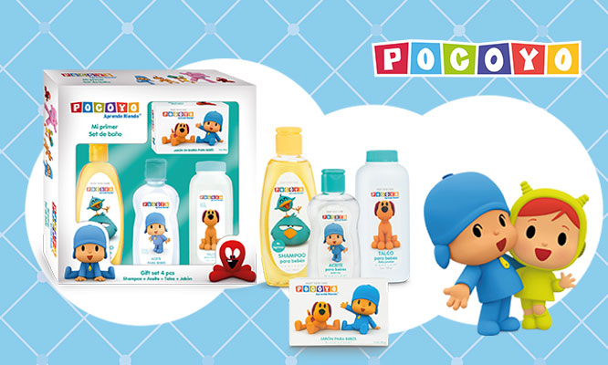 Set gift Pocoyo con talco aceite jabon shampoo delivery ¡Elige el set!