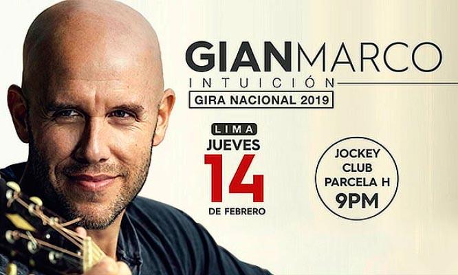 GIAN MARCO en concierto este 14 de febrero en el Jockey Club Zona a elegir