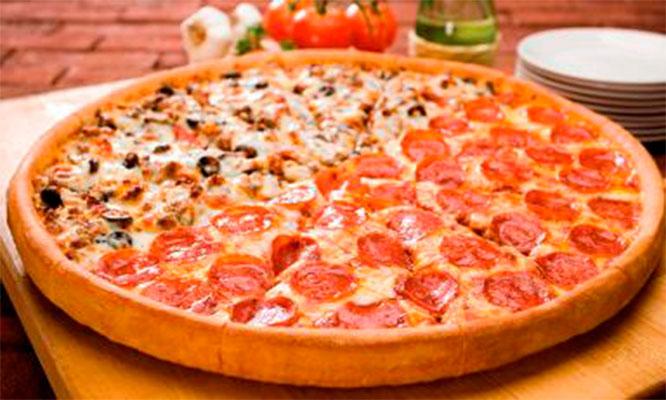 Dos pizzas personales medianas o grandes a eleccion bebidas