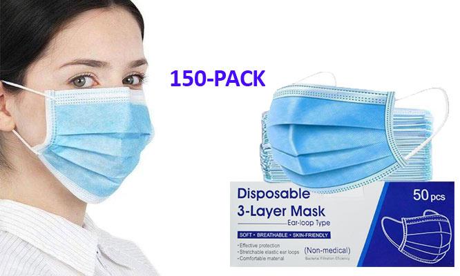SALE 150 mascarillas 03 cajas de 3 pls con ajuste nasal ¡Con delivery en 24hrs!