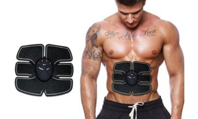 ABS Fit Six-pack EMS Muscle Trainer Parche para el abdomen x pack ¡Incluye delivery!
