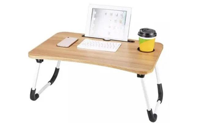 Mesita plegable para laptop de colores con portavaso ¡Con delivery en 24hrs!