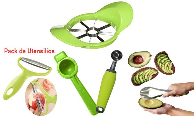 Pack de 3 utensilios de cocina basicos color verde ¡Con delivery en 24hrs!