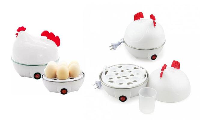 Gallinita hervidor cocedor de huevos duros al vapor electrico delivery