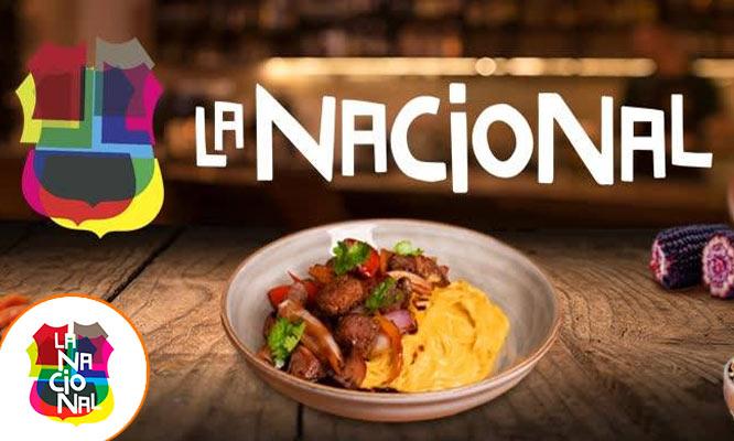 Almuerzo o cena criollo para CUATRO en La Nacional ¡Elige sede!