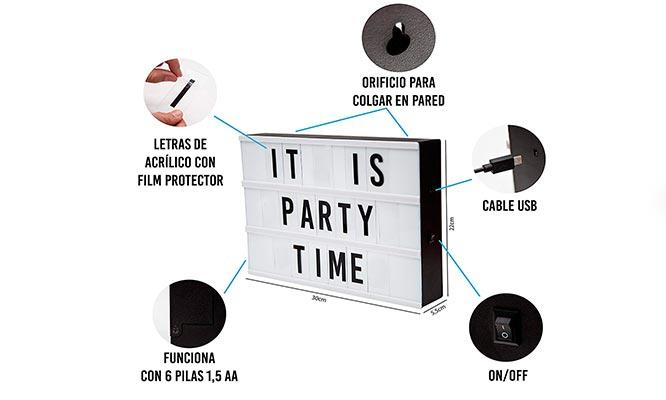 Letrero LED con letras intercambiables cambia mensajes ¡Con delivery en 24hrs!