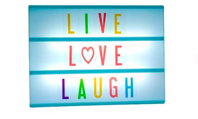 Letrero LED con letras intercambiables Mensajes de amor negocio y mas