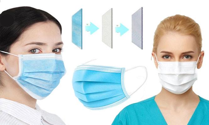 Caja de 50 mascarillas 3 capas y ajuste nasal interno - importadas¡Incluye Delivery!