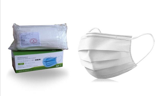 100 unds 02 cajas de mascarillas de 3 pliegues planas ¡Incluye delivery!