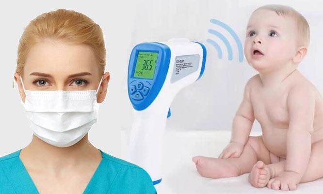 Termometro infrarrojo digital Kangji 50 mascarillas de 3 pliegues ¡Incluye delivery!