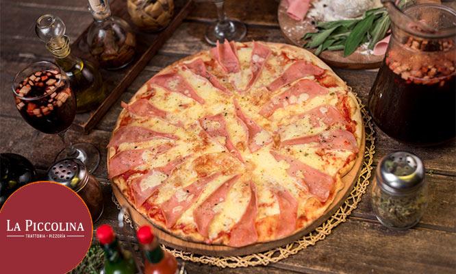Pizza grande de Jamon o Pepperoni 1 litro de Chicha morada ¡Valido en sus 4 locales!