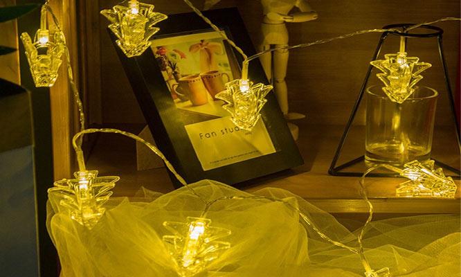 Guirnalda con LED y clips para decoracion ¡Incluye delivery!