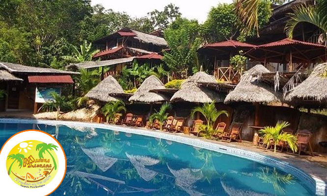 Tarapoto Alojamiento para tres personas desayunos en Madera Labrada Lodge