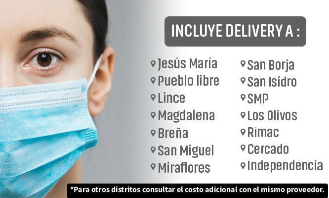 10 o caja de 50 mascarillas quirurgicas Incluye delivery