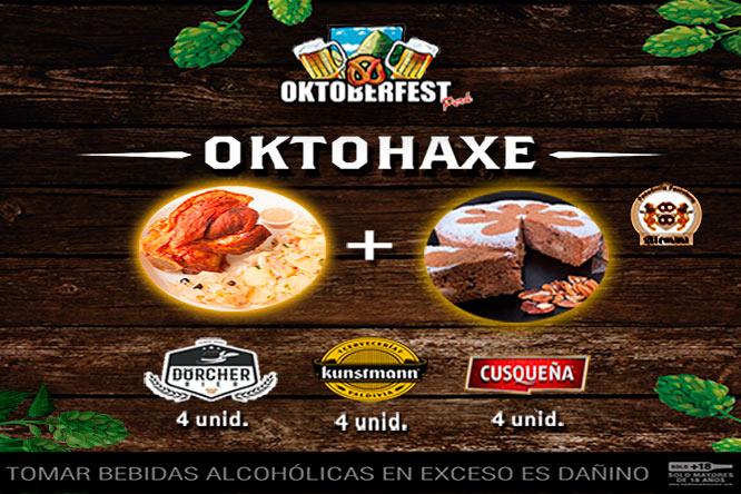 OKTOPACK cervezas comida y postre ¡Incluye delivery! ONLINE LIVE 31/10